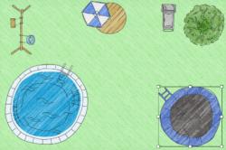 Wieviel Platz braucht ein Gartentrampolin im Garten?