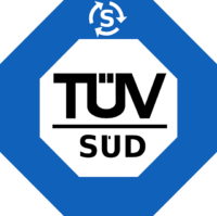 TÜV und GS-Zeichen auf Trampolinen